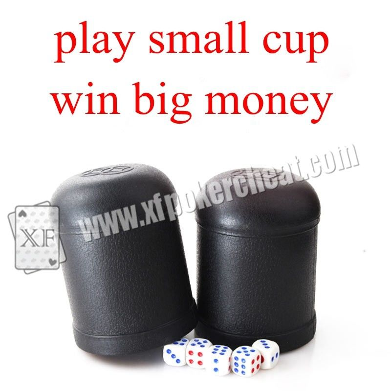Black Plastic Electronic Dice Cup Cheating Device For Dice Games