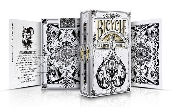 Paper Bicycle Arch Angles Poker Playing Cards Grey Color 8.8*6.3cm