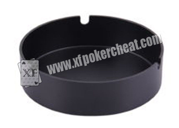 Black Ceramic Ashtray Camera For Poker Analyzer / Cigarette Ashtray Camera