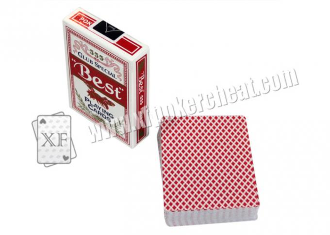 BEST NO.555 Paper Invisible Side Barcode Marked Cards For Gamble Cheating