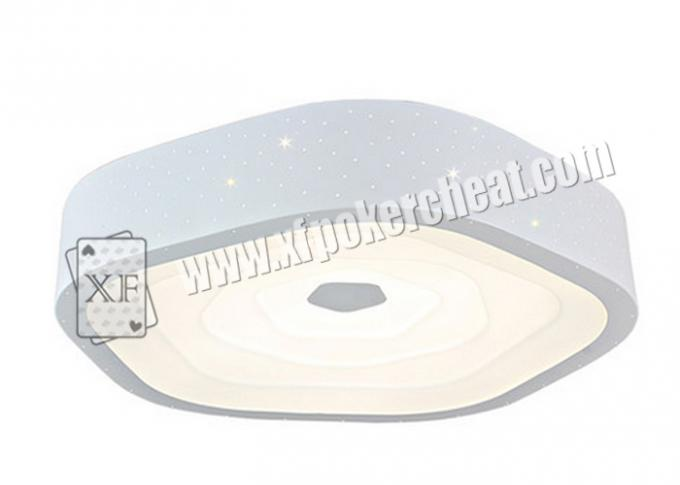 Backside Marked Cards Casino Cheating Devices White Creative Ceiling Lamp With Camera