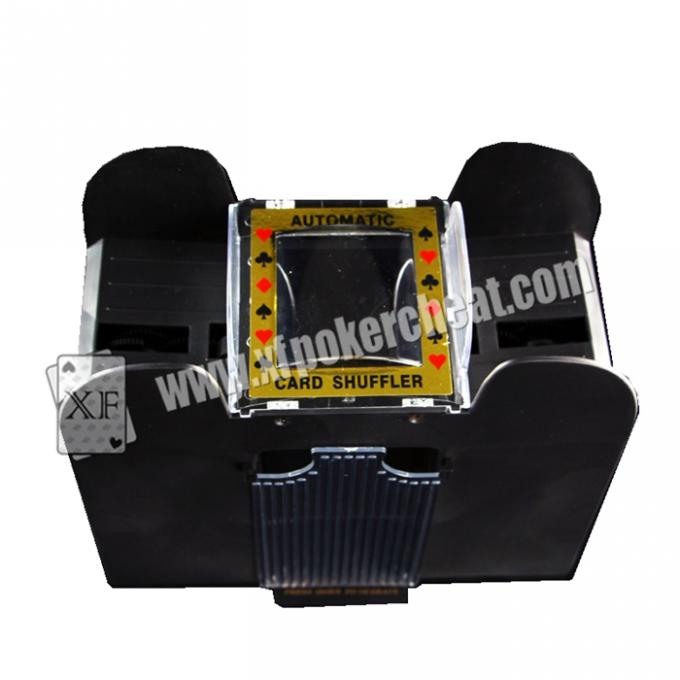Black Casino Cheating Devices , Eight Deck Automatic Playing Card Shuffler With Camera